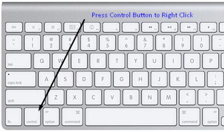 press control button to right click