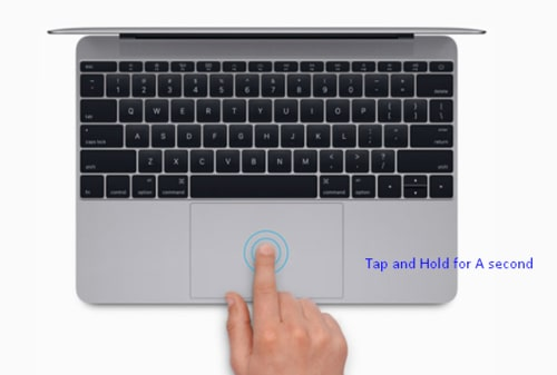 Hold the Tap of MAC mouse for clicking right