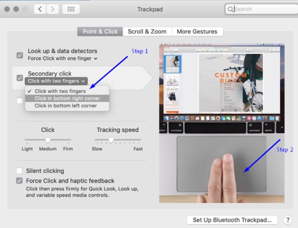 Right Click on Mac using trackpad